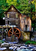 pic of virginia  - Front picture of old grist mill in West Virginia during the early fall - JPG