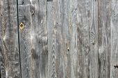 image of stockade  - clear texture old wood fence with a conventional - JPG