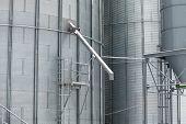 image of silos  - Exterior detail of a storage grain silos - JPG