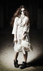 stock photo of rag-doll  - Horror scene - JPG