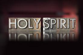 foto of holy  - The words Holy Spirit written in vintage letterpress type  - JPG