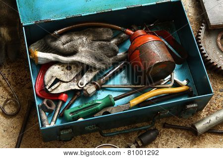Still Life With Tools Box