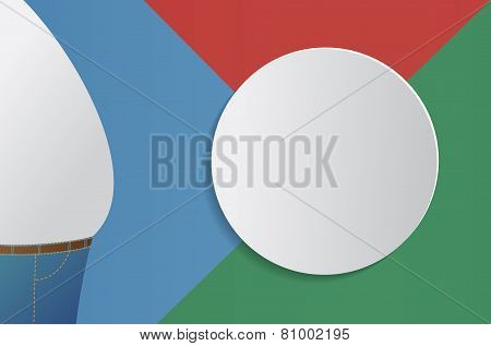 Fat man info-graphic design