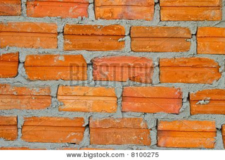 Lay Brick At Wall Building