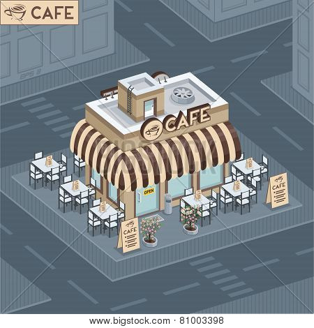Facade coffee shop