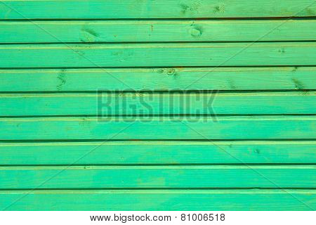 Green Horizontal Planks