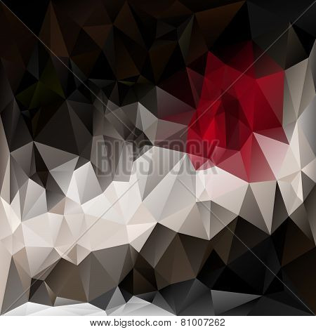 Vector Polygonal Background Pattern - Triangular Design In Dark Colors
