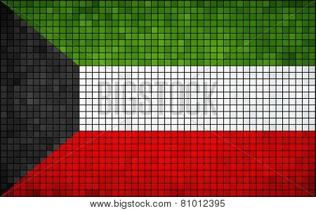 Abstract Mosaic Flag of Kuwait