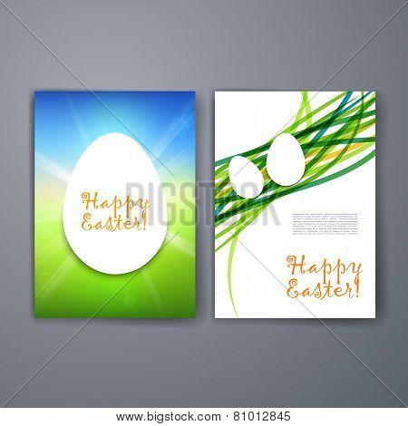 Templates. Set of Flyer, Brochure Design Templates. Easter invitation flyer.