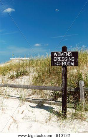 Beach Women's Dressing Room Sign