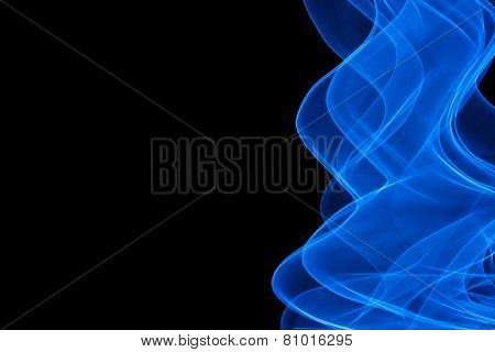 Flowing light blue