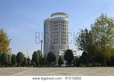 Ashgabat, Turkmenistan - October 11, 2014: Department Of Energy. Ashkhabad. Turkmenistan In October