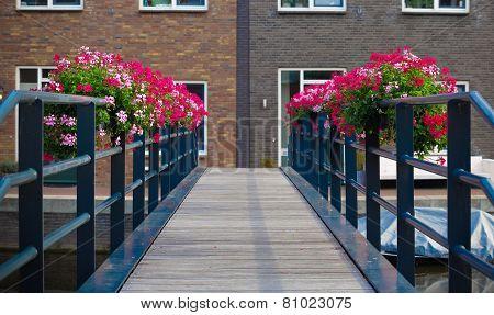 Flowers On Bridge