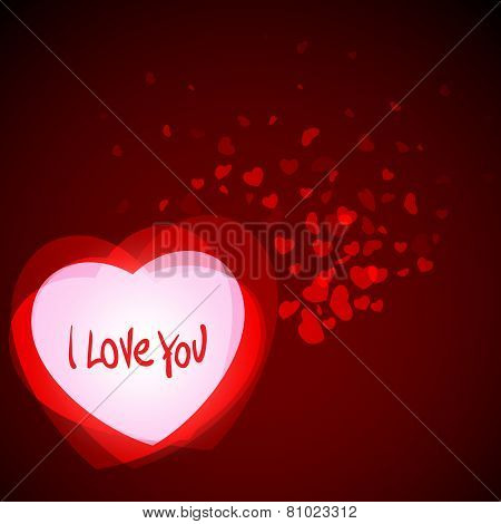 Abstract Romantic Background With Hearts