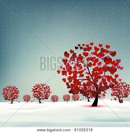 Landscape With Trees Heart
