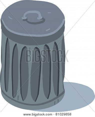 Vector cartoon flat trash icon.