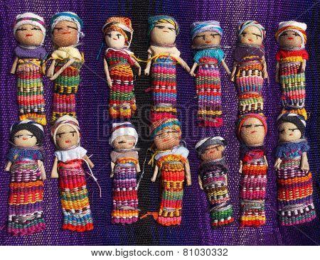 Guatemalan Worry Dolls Background