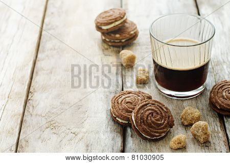 Coffee And Chocolate Cookies Sable