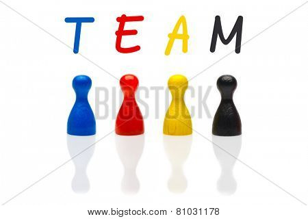 Concept Team, Teamwork, Organization Primary Color Black