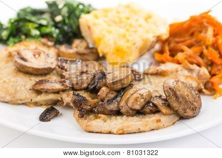Sauteed Mushrooms On Pork Chops