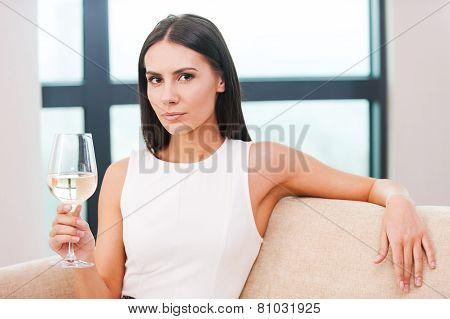 Enjoying White Wine.
