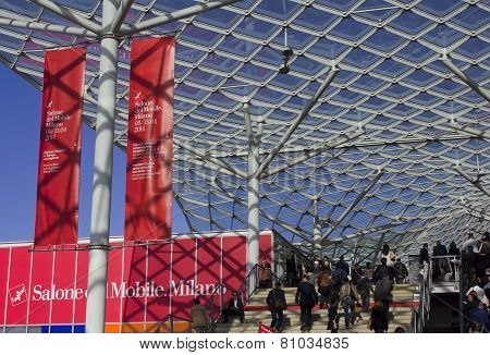 Entrance Of The Milan Trade Fair