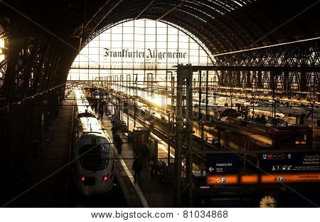 Frankfurt, Germany Main Train Station