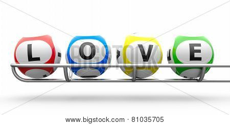 Lottery Balls Love