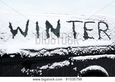 Snowed Car In Winter