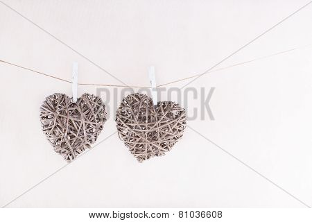 Two Hanging Hearts