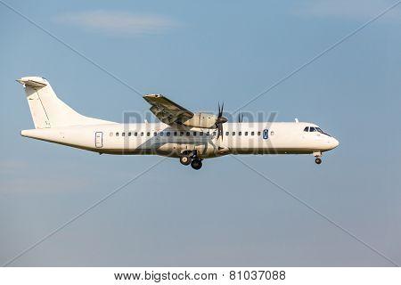 White Passenger Turboprop Aircraft