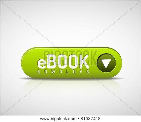 Vector 3d green e-book download button