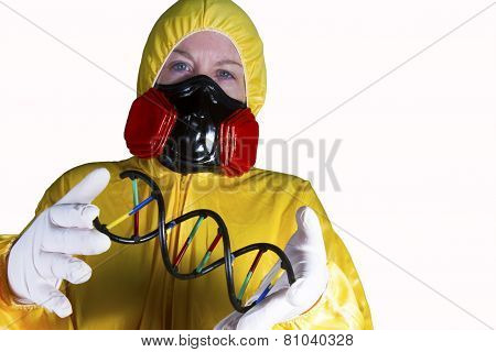 HazMat Worker with Double Helix