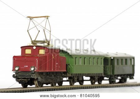 electric train toy miniature