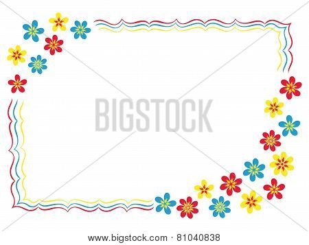 Valentine Greeting Card With Flowers