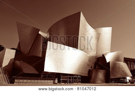 Los Angeles, CA - MAY 18: Walt Disney Concert Hall in Downtown on May 18, 2014 in Los Angeles. Los Angeles is the second-most populous city after New York in USA.