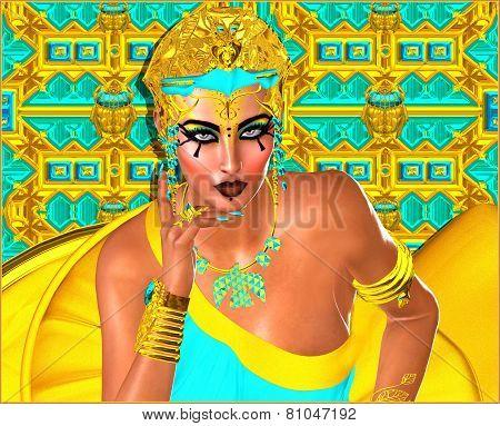 Egyptian woman with beautiful cosmetics