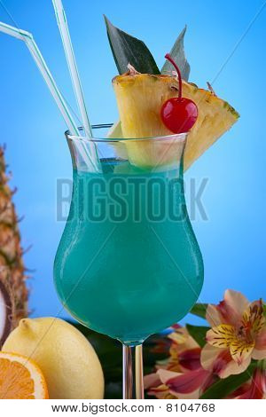 Most Popular Cocktails Series - Blue Hawaiian