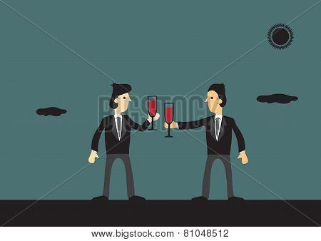 Businessmen Toasting To Success