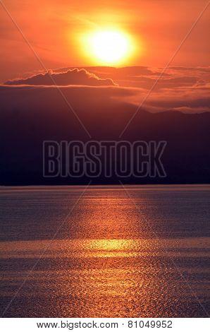 Sunrise Over Lake Rotorua
