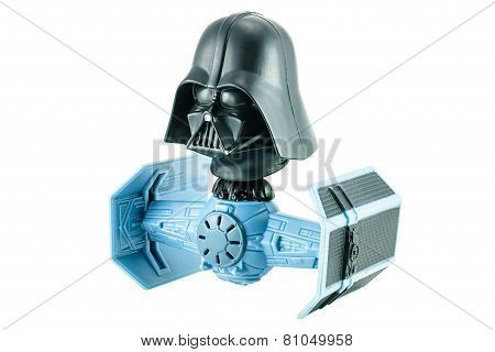 Darth Vader Bobble Head Tie Figter Character Toy From Star War The Clone Wars.