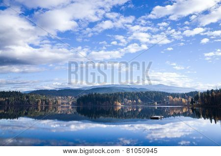 Reflections In A Calm Mountain Lake