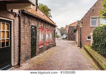 Quiet Street in Small European Village