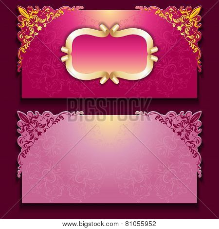 Royal invitation card with frame