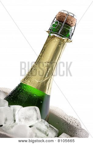 Champagne Bottle On Ice