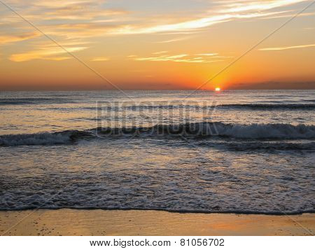 Sunrise At The Beach, Valencia, Spain