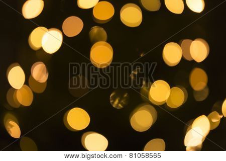 Light spots (bokeh), can be used as background