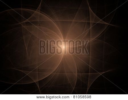 Abstract Fractal Texture. Visual Presentation Of Mathematical Equations