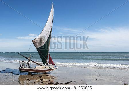Jangada On The Beach, Brazil