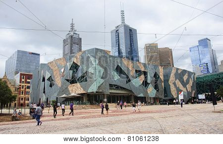Melbourne, Australia - January 14, 2015: Federation Square On 14